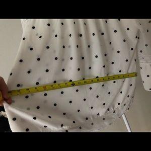 Fever Tops - White and Black Polka Dot Blouse